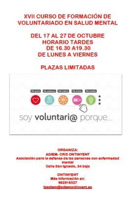 Cartel voluntariado CRIS